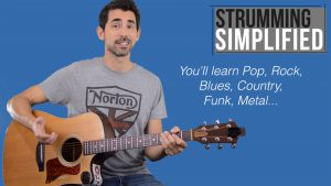 Strumming chord progressions simplified guitar lesson